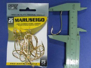 Anzol Maruseigo Gold nº 26 - 15 unidades  - Artpesca