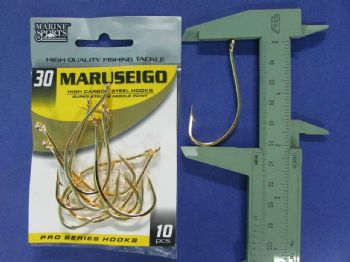 Anzol Maruseigo Gold nº 30 - 10 unidades  - Artpesca