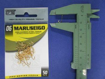 Anzol Maruseigo Gold nº 6 - 50 unidades  - Artpesca
