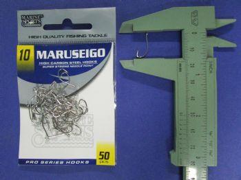 Anzol Maruseigo Nickel nº 10 - 50 unidades  - Artpesca