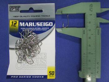 Anzol Maruseigo Nickel nº 12 - 50 unidades  - Artpesca
