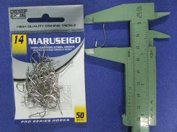 Anzol Maruseigo Nickel nº 14 - 50 unidades  - Artpesca