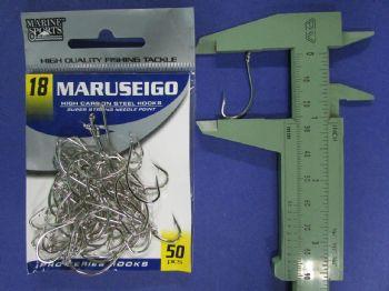 Anzol Maruseigo Nickel nº 18 - 50 unidades  - Artpesca
