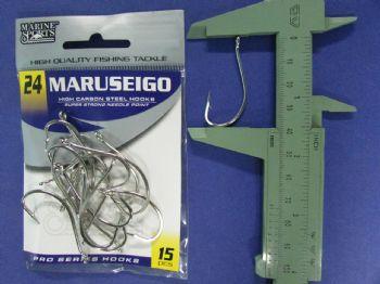 Anzol Maruseigo Nickel nº 24 - 15 unidades  - Artpesca