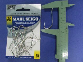 Anzol Maruseigo Nickel nº 26 - 15 unidades  - Artpesca