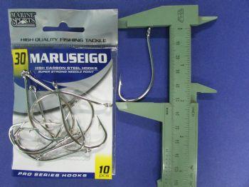 Anzol Maruseigo Nickel nº 30 - 10 unidades  - Artpesca