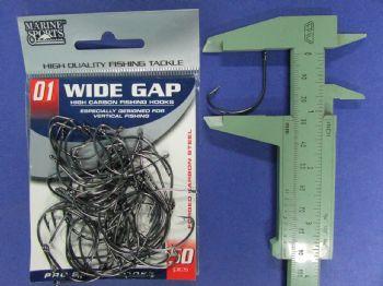 Anzol Wide Gap BlackNickel Robalo nº 1 - 50 unidades  - Artpesca