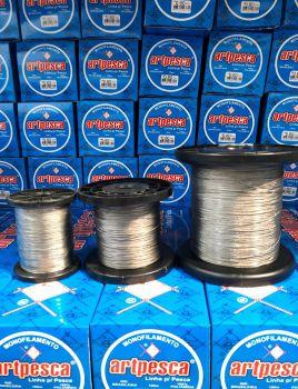 Cabo de Aço Inox Revestido com Nylon 100 Lbs - resist: 45,400kg - diâmetro: 0,85mm Rolo com 500m  - Artpesca