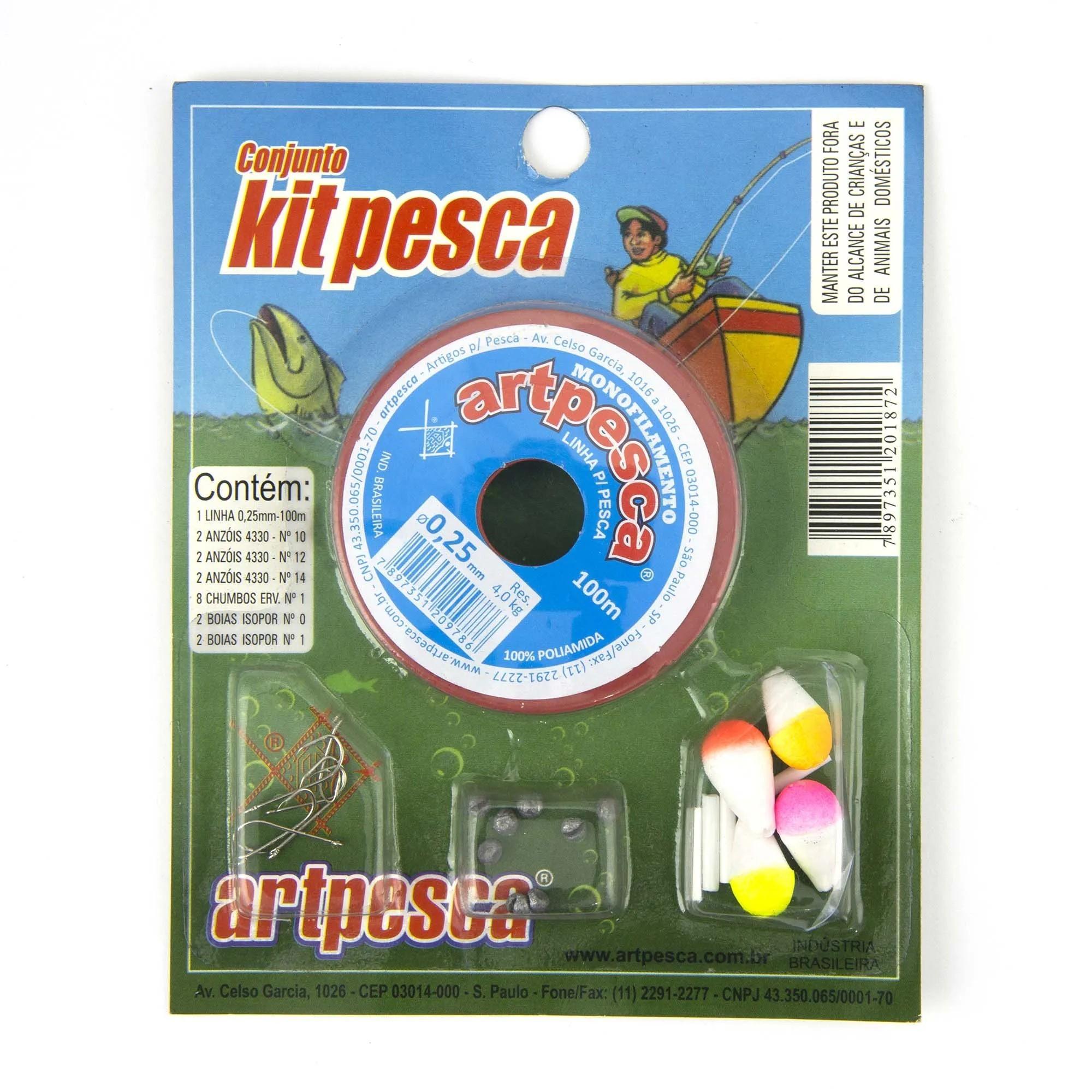 Conjunto Kit Pesca Artpesca 0,25  - Artpesca