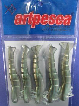 Isca Silicone Camarão - pacote com 5 unidades  - Artpesca