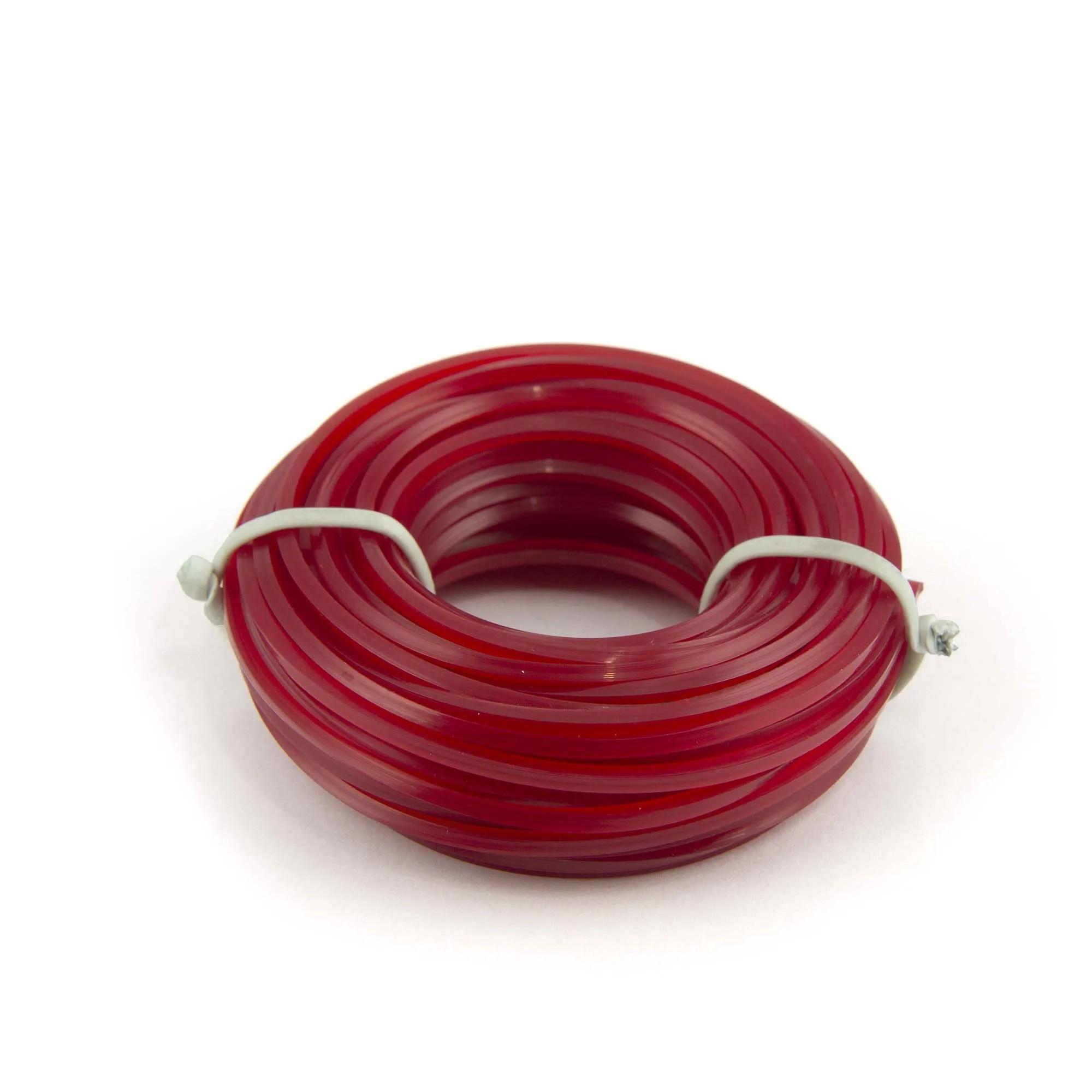 Linha cortador Grama vermelha 3,00mm - 10m  - Artpesca