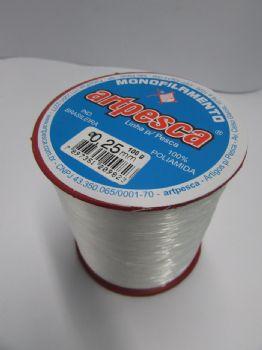 Linha de Nylon Artpesca 0,25mm Branca - 1 unidades com 100gr  - Artpesca