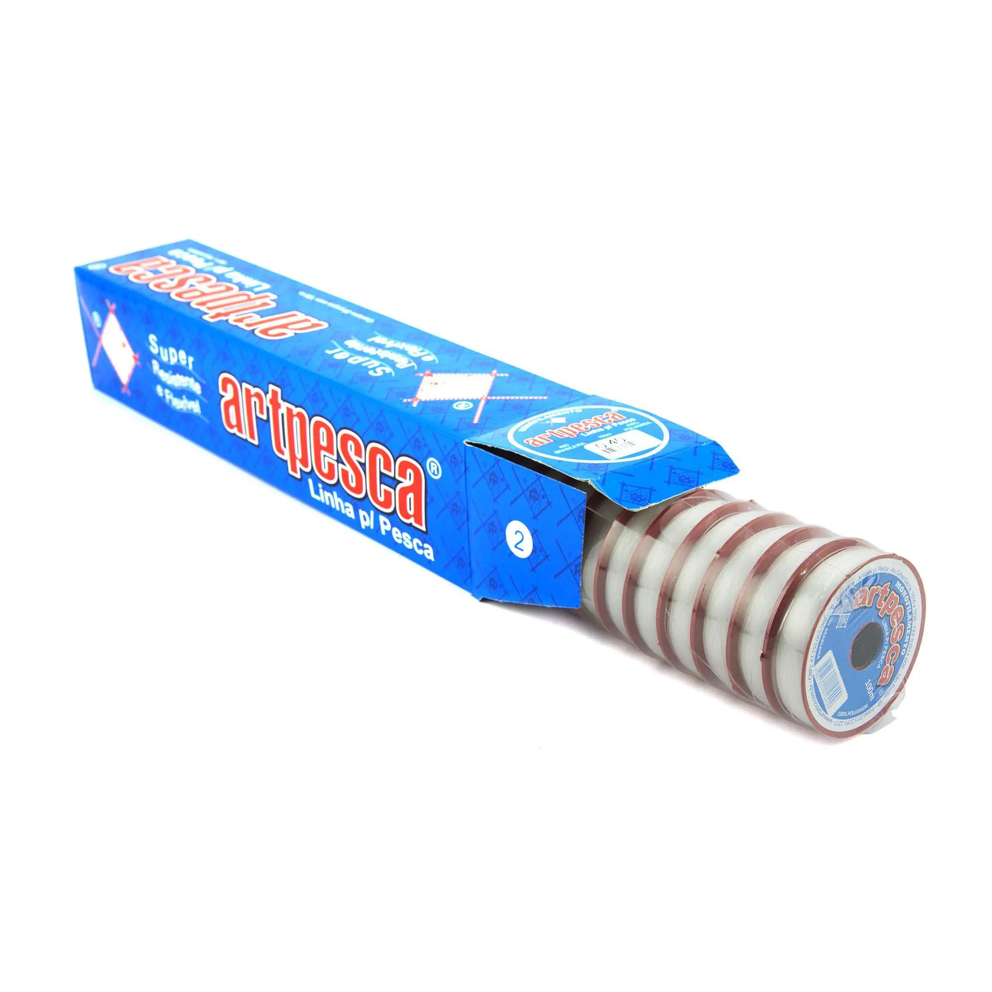 Linha de Nylon Artpesca 0,30mm Branca Caixa com 20 unidades de 100m cada  - Artpesca