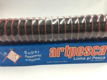 Linha de Nylon Artpesca 0,35mm - Preta - Caixa com 20 unidades de 100m cada  - Artpesca
