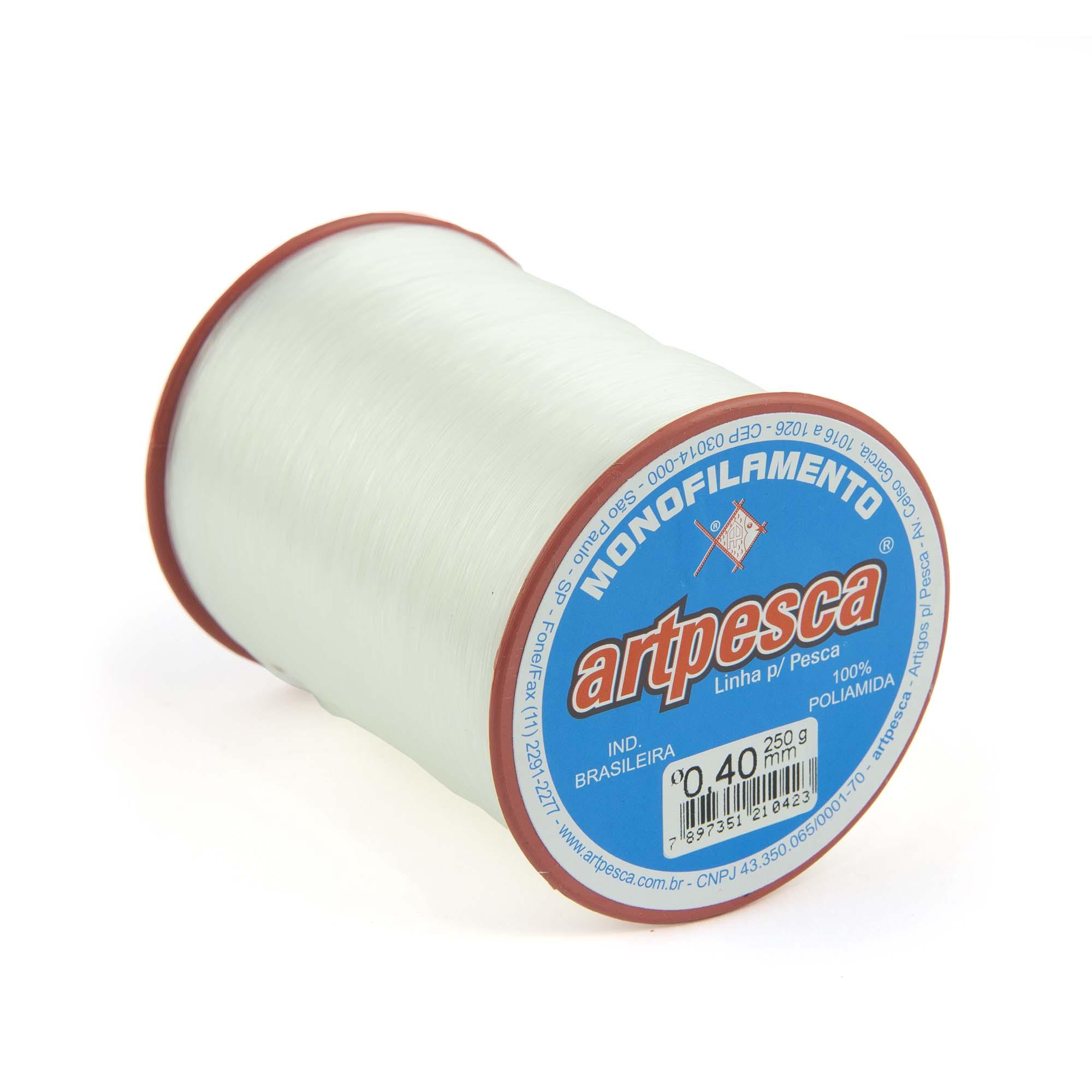 Linha de Nylon Artpesca Branca 1,00mm - 1 unidade com 250gr  - Artpesca