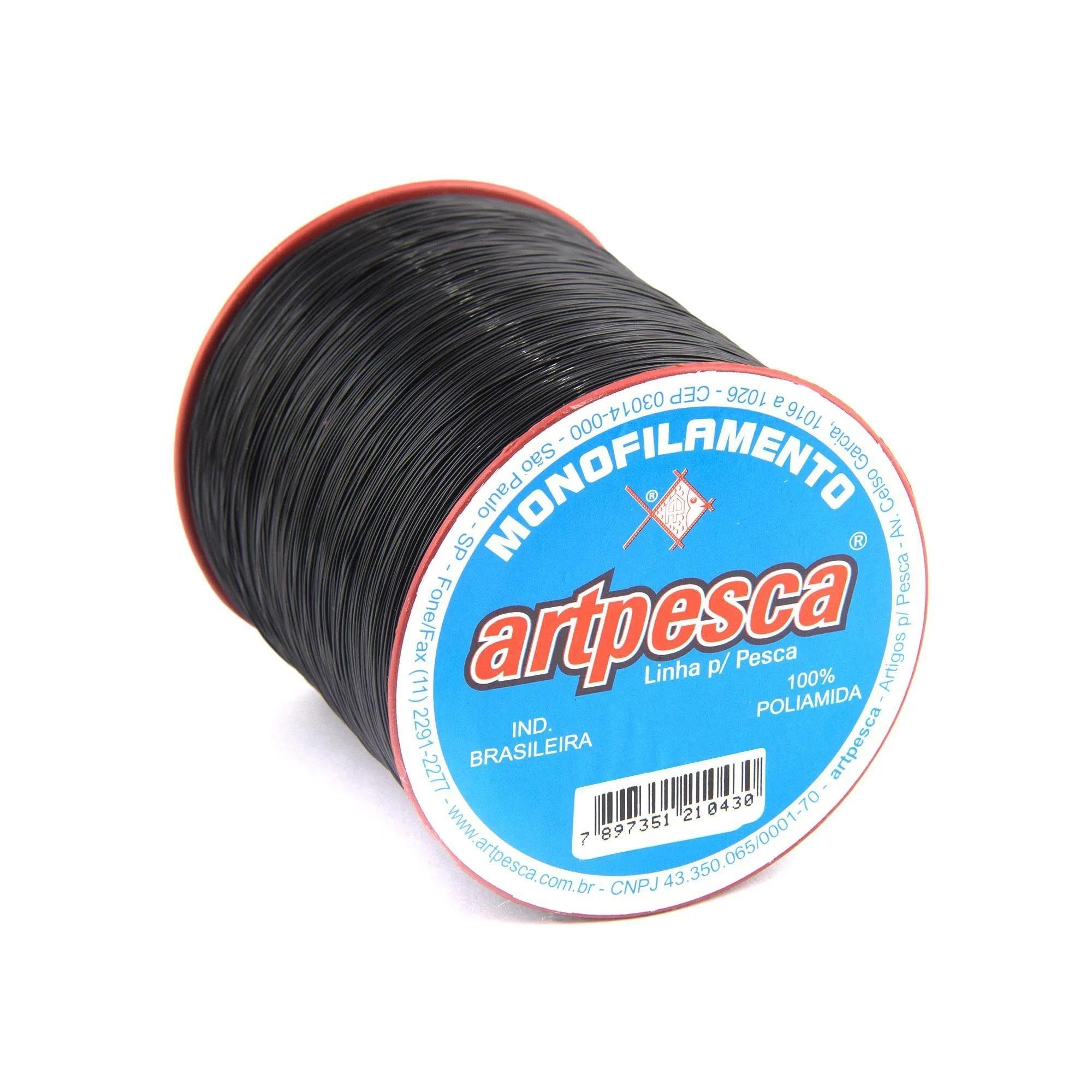 Linha de Nylon Artpesca Preta 0,20mm - 1 unidades com 100gr  - Artpesca