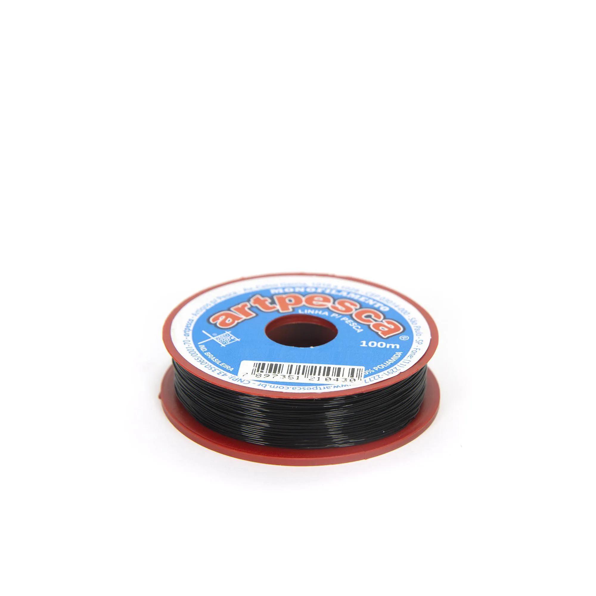 Linha de Nylon Artpesca Preta 0,30mm Pacote com 1 unidades de 100m  - Artpesca