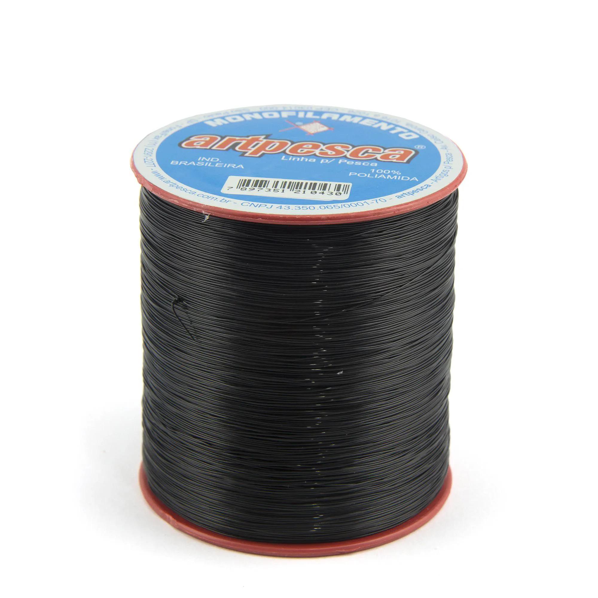Linha de Nylon Artpesca Preta 0,35mm - 1 unidades com 100gr  - Artpesca
