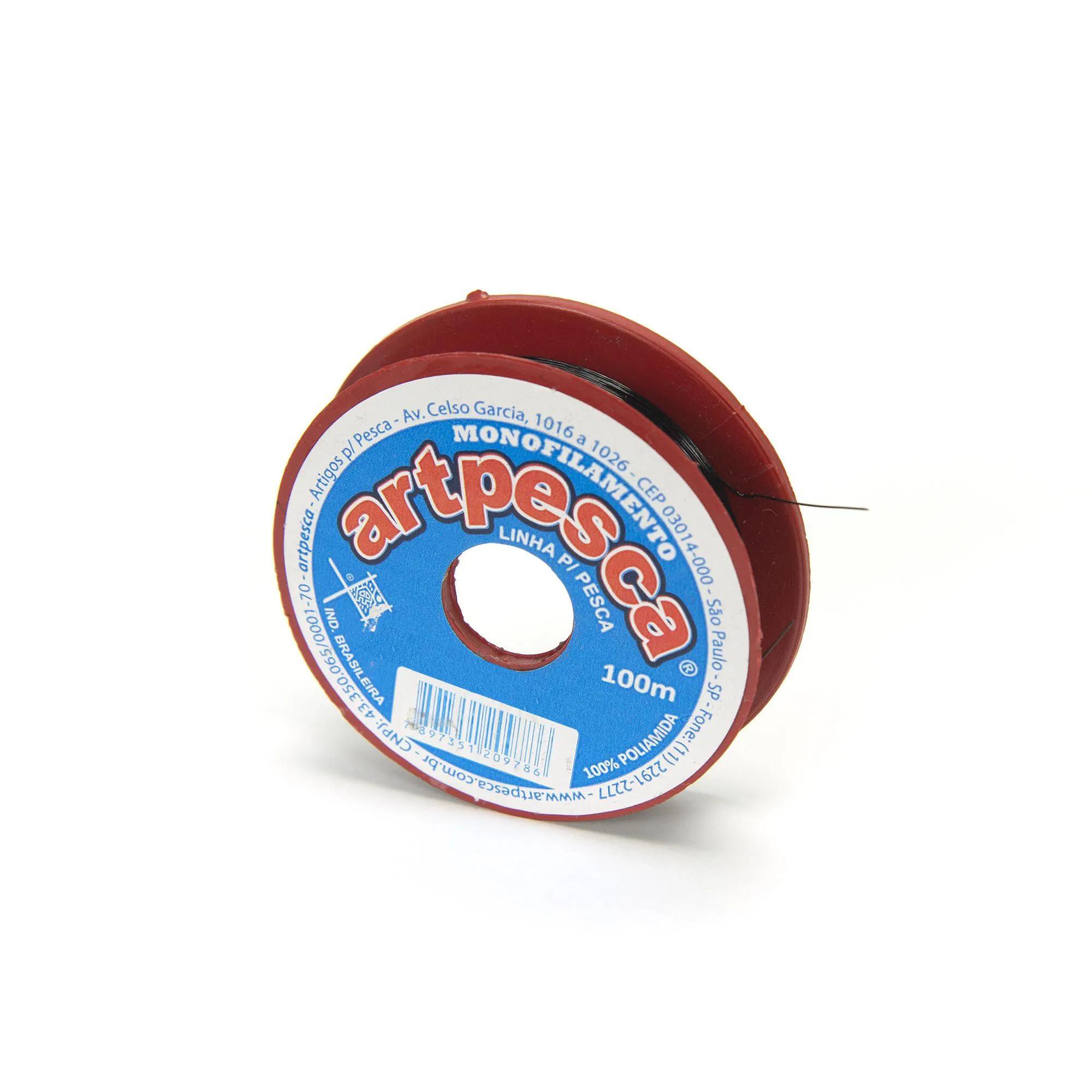 Linha de Nylon Artpesca Preta 0,35mm Pacote com 1 unidades de 100m  - Artpesca