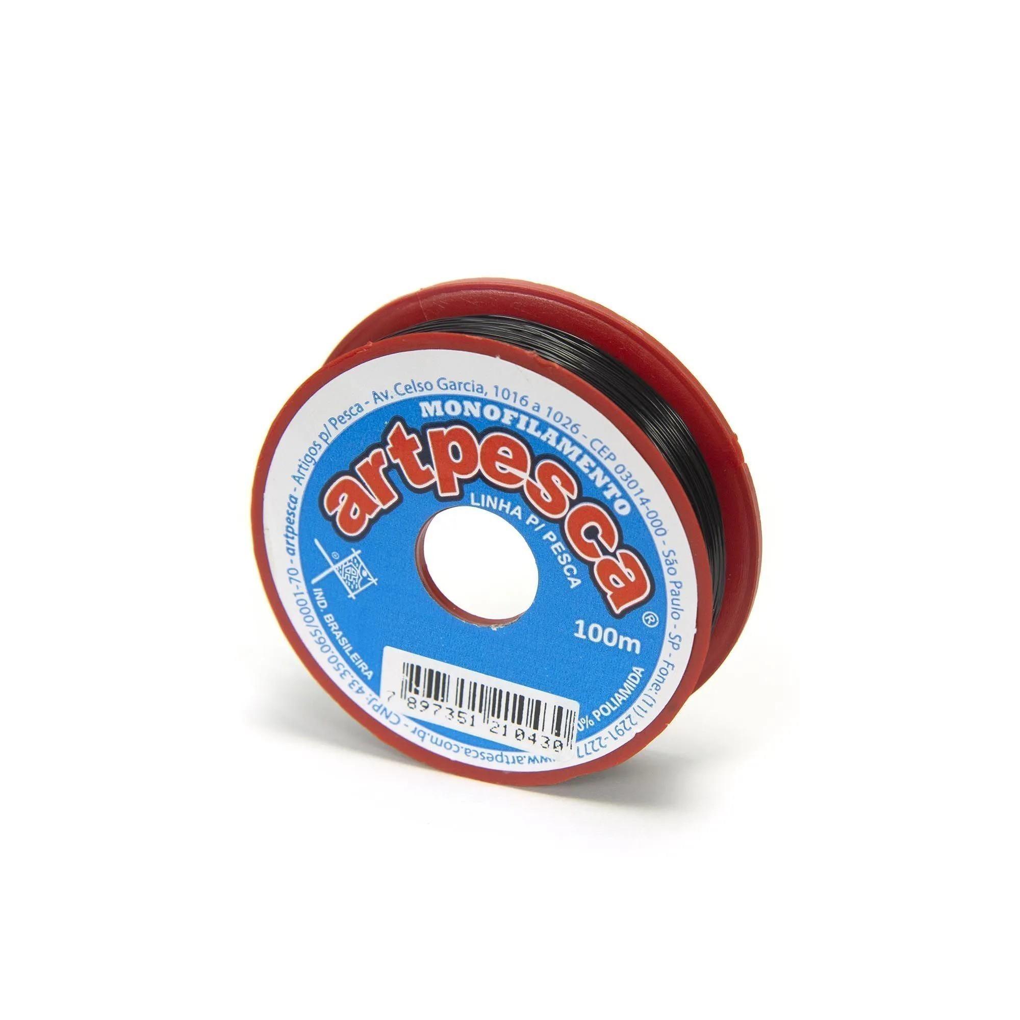 Linha de Nylon Artpesca Preta 0,40mm Pacote com 1 unidades de 100m  - Artpesca