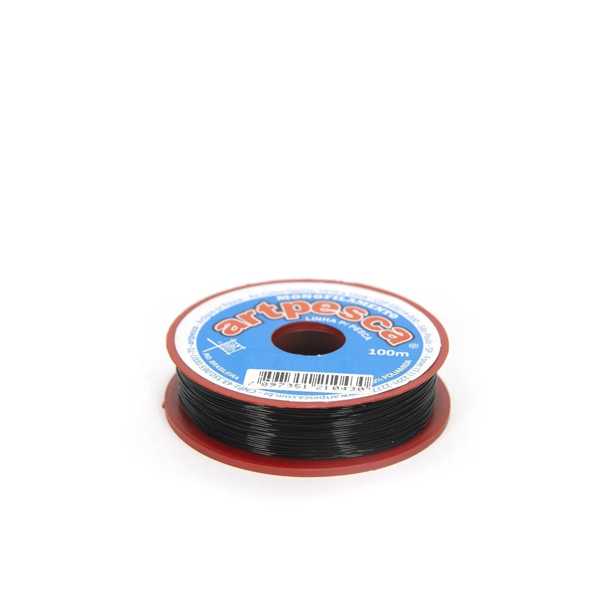 Linha de Nylon Artpesca Preta 0,60mm Pacote com 1 unidades de 100m  - Artpesca