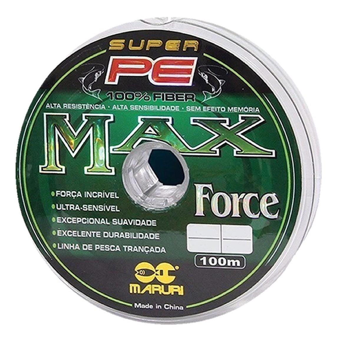 Linha Max Force Multifilamento  0,20mm - 100m  - Artpesca