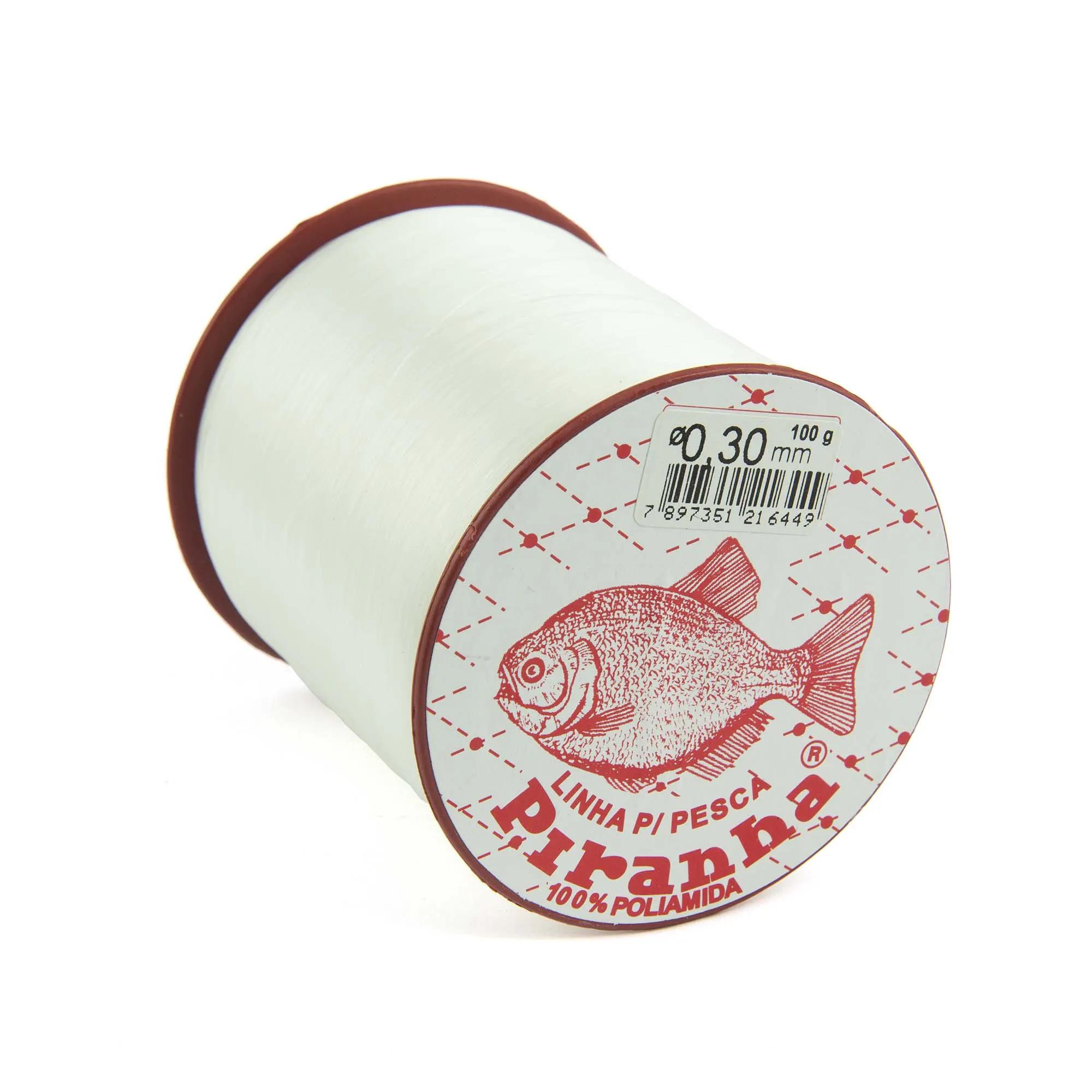 Linha Nylon Piranha - Branca - 100gr  - Artpesca
