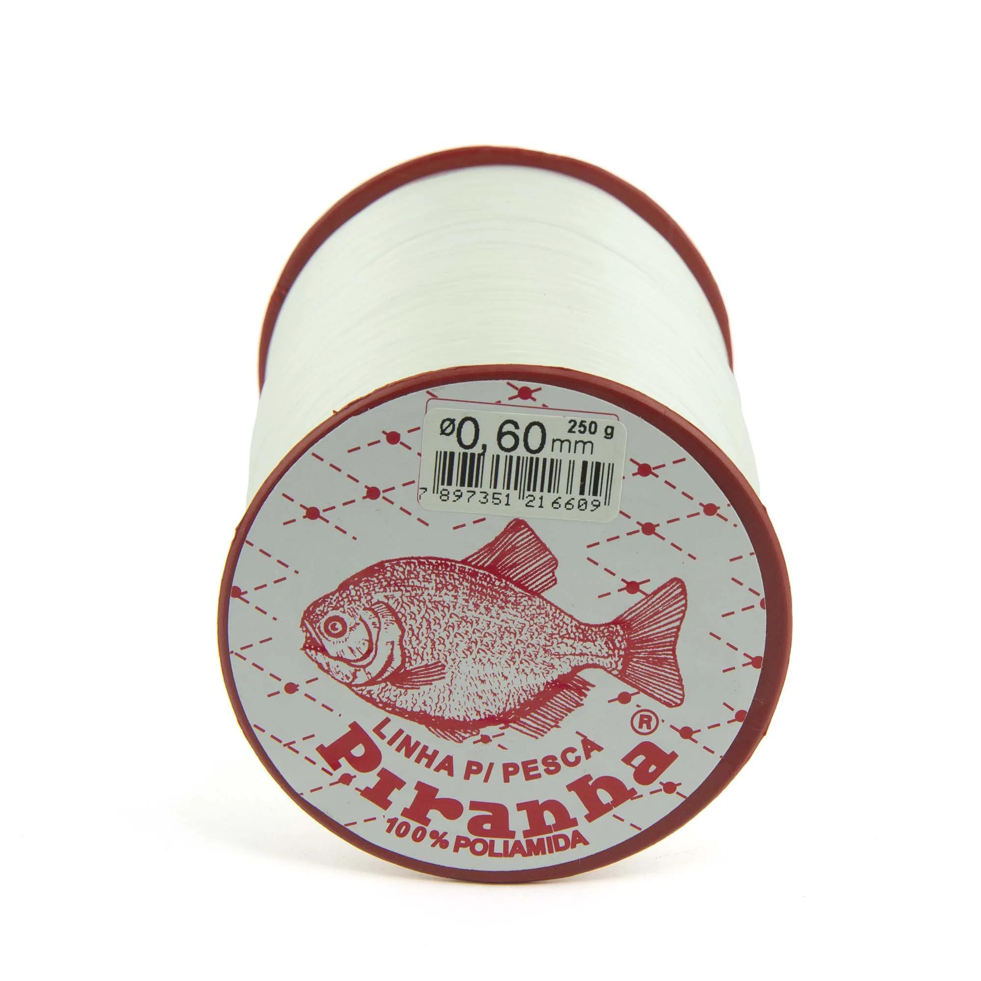 Linha Nylon Piranha - Branca 250gr  - Artpesca