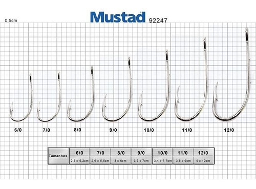 Anzol Mustad 92247 6/0 (100un)