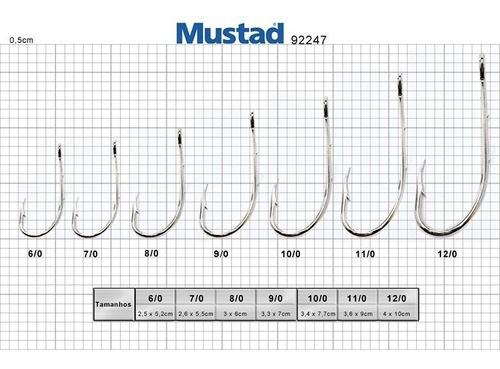 Anzol Mustad 92247 7/0 (100un)
