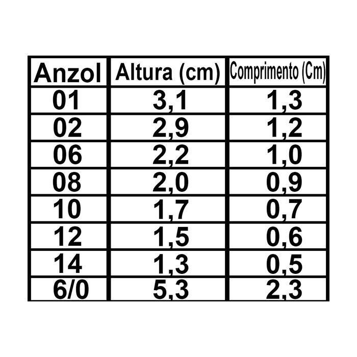Anzol Pinnacle 4330 2/0 (100un)