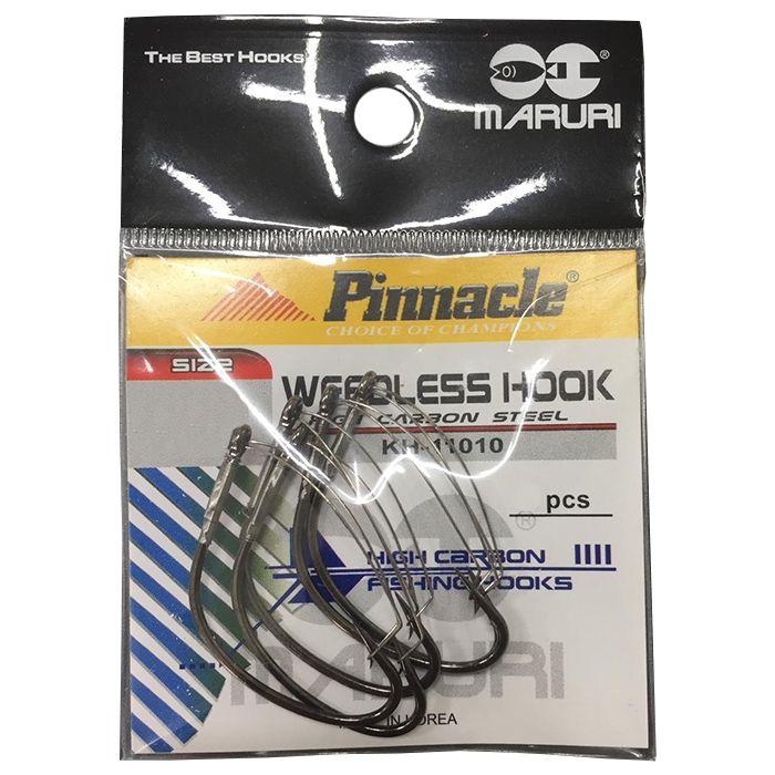 Anzol Pinnacle Weedless Black 1/0 (05un.)