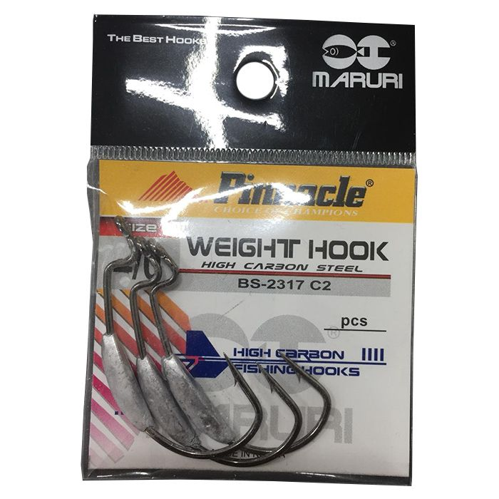 Anzol Pinnacle Weight Hook Black 1/0 (03un)