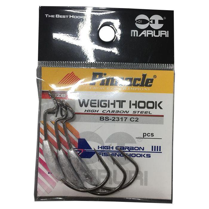 Anzol Pinnacle Weight Hook Black 2/0 (03un)