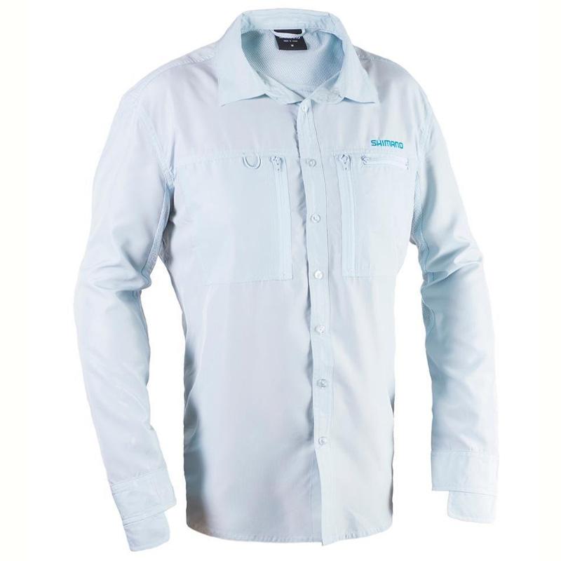 Camisa Shimano Vented Shirt Ice Grey