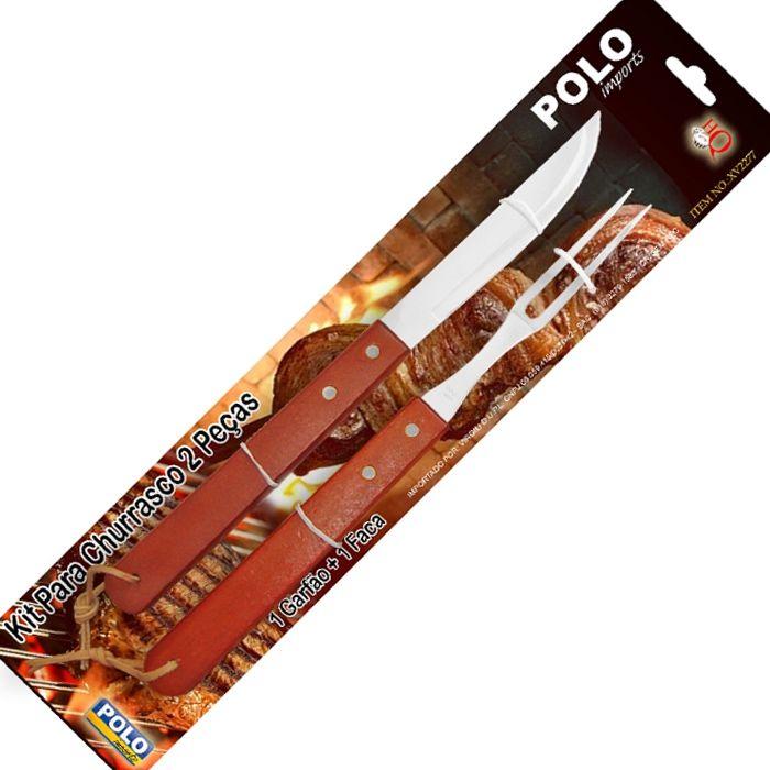 Kit para Churrasco Xingu 2277 (Garfo 34cm + Faca 35cm)