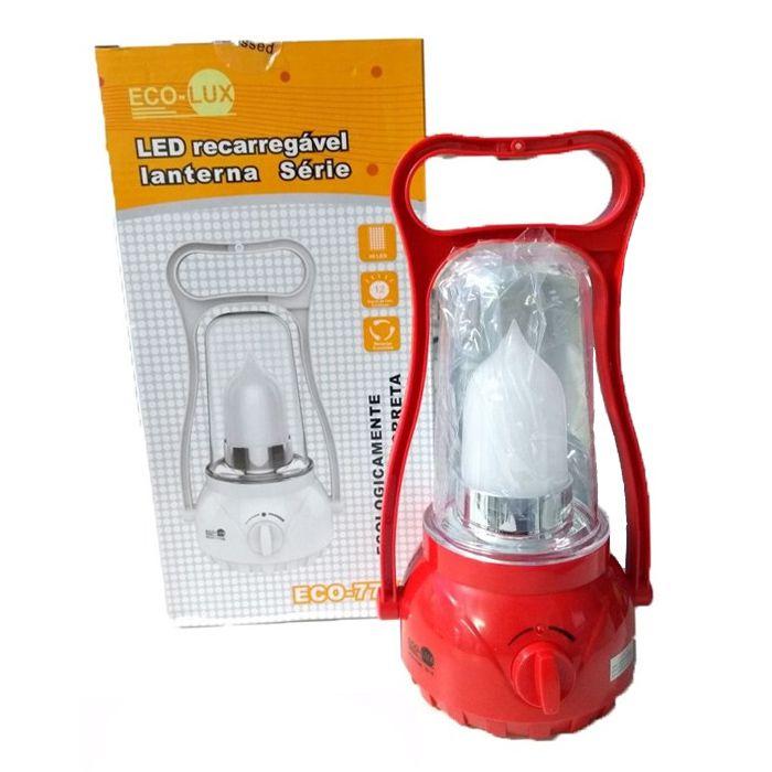 Lampião Eco Lux 770B (1 super Led, Recarregável)