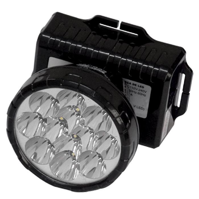 Lanterna de Cabeça Eco Lux 162 N (12 Leds, Recarregável)