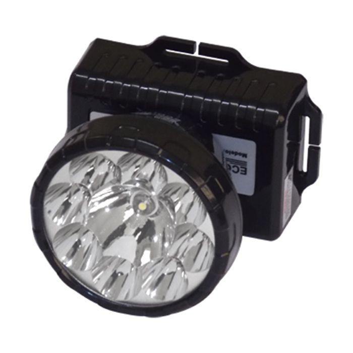 Lanterna de Cabeça Eco Lux 161N (8 + 1 Leds, Recarregável)