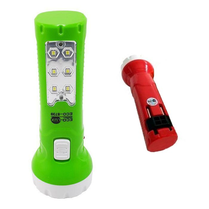 Lanterna Eco Lux 8739 (6 + 6 Leds, Recarregável)