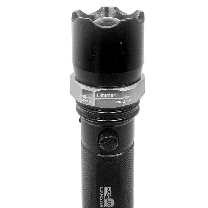 Lanterna Police Eco Lux L209A (1 Led Creed, Recarregável)