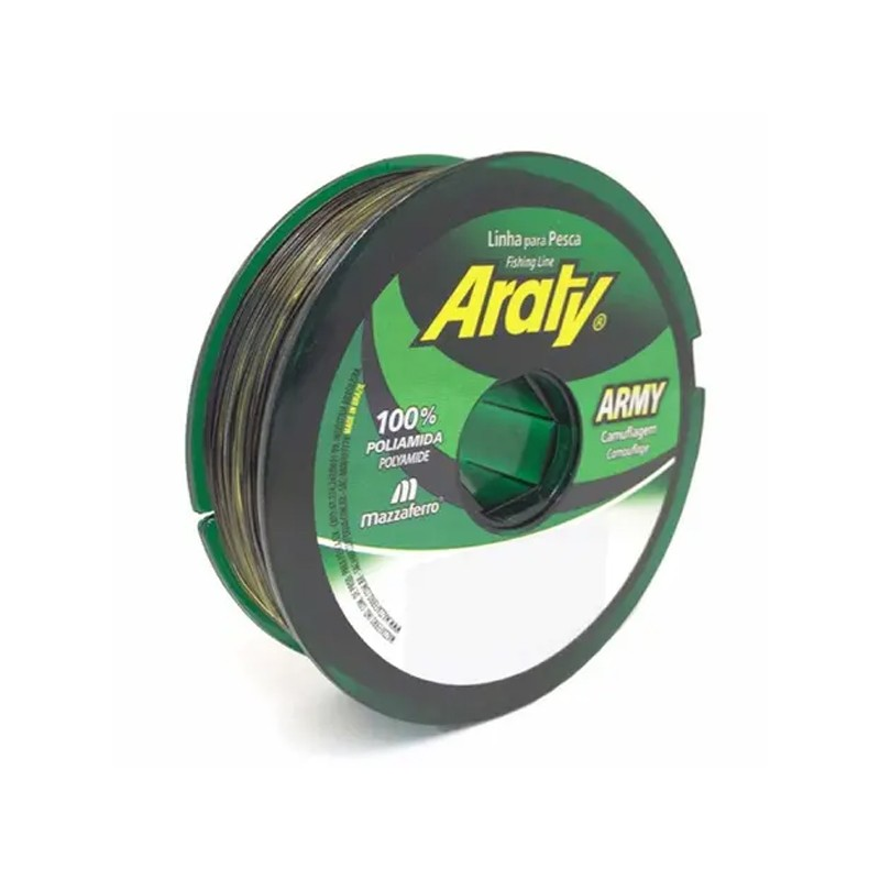 Linha Araty Army preto e verde 14,6lbs (300m 0.30mm)