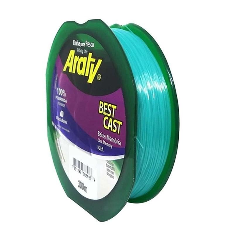 Linha Araty Best Cast 15,4lbs verde (0,30mm-300m)