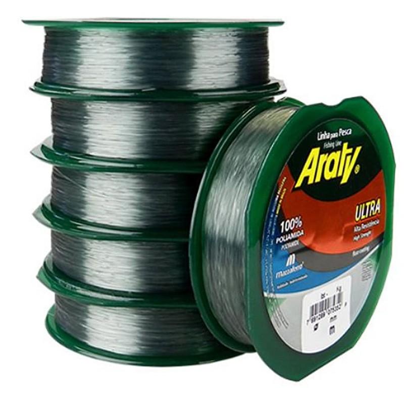 Linha Araty Ultra 24,7lbs prateado (0.40mm-300m)