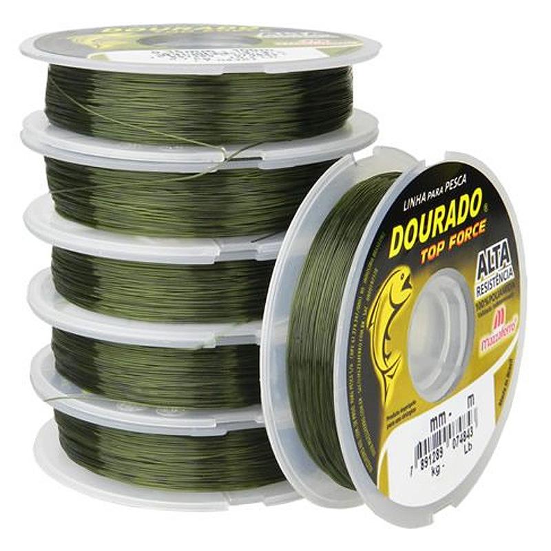 Linha Dourado Top Force 36,6lbs verde oliva (0,50mm-100m)