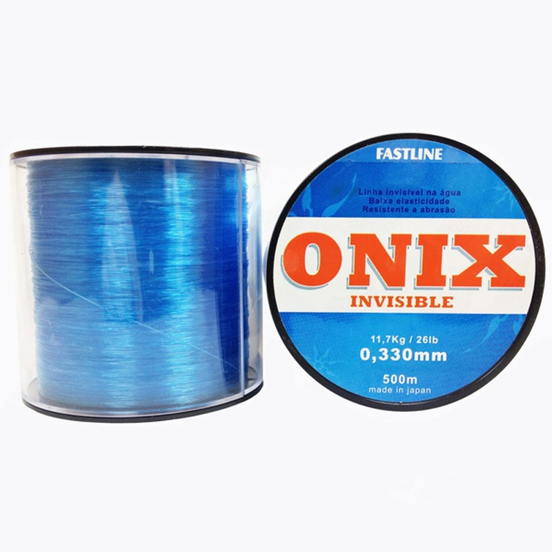 Linha Fastline Onix Invisible 42lbs azul (0,43mm-500m)