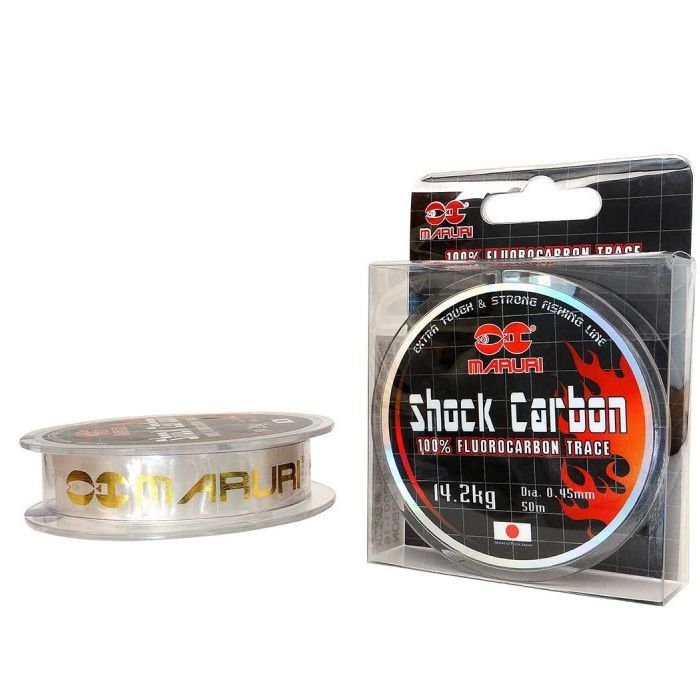 Linha Fluorocarbon Maruri Shock Carbon 07kg (0.29mm - 50m)