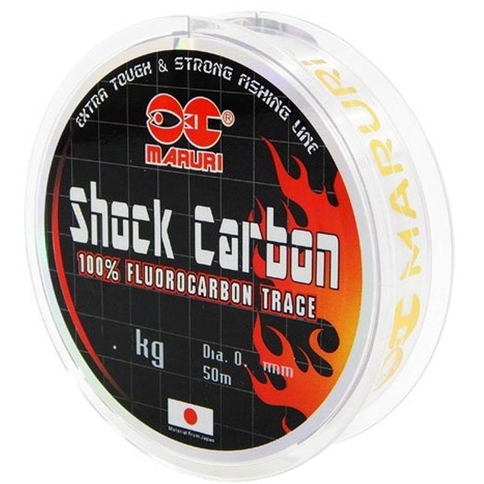 Linha Fluorocarbon Maruri Shock Carbon 20kg (0.55mm - 50m)