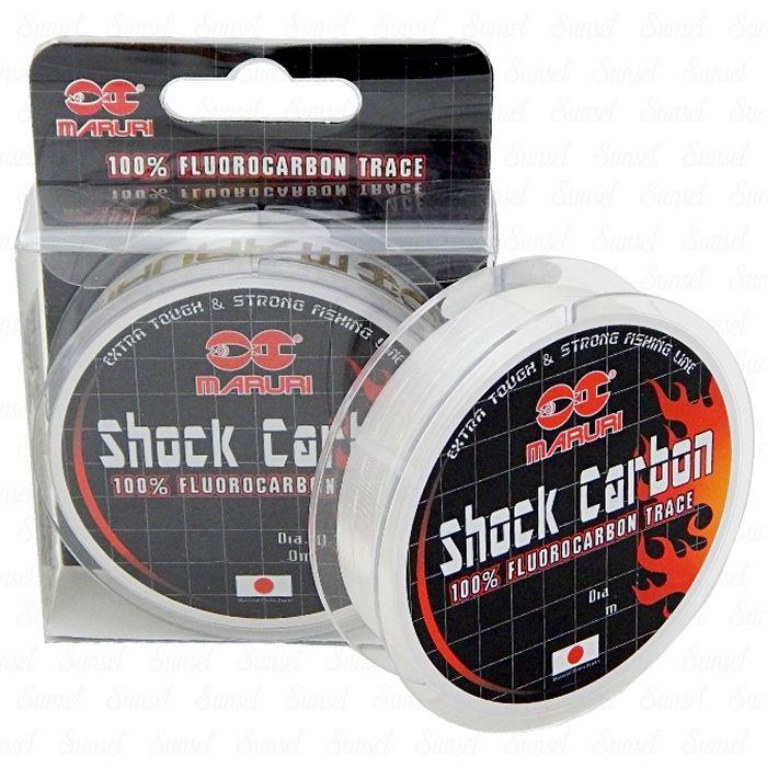 Linha Fluorocarbon Maruri Shock Carbon 24.6kg (0.73mm - 20m)
