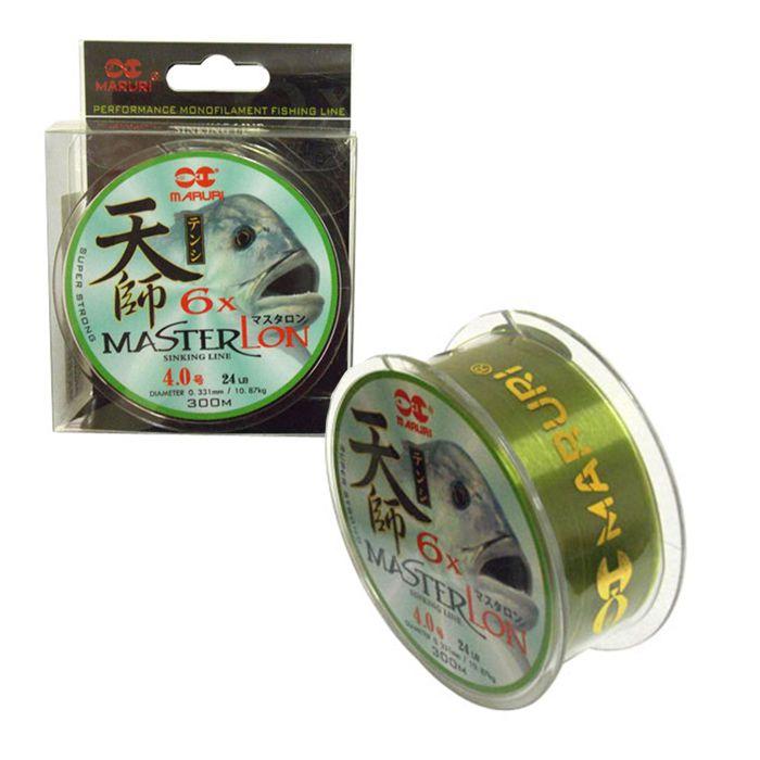 Linha Monofilamento Maruri Master Lon 0.8 2.4kg (0.14mm - 300m)